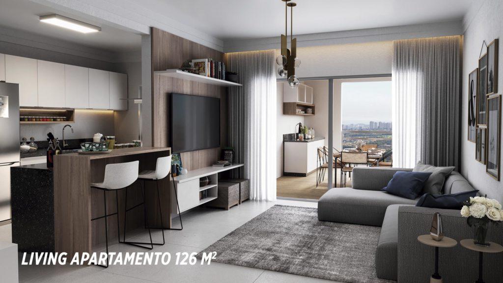 Living Apartamento 126m2_Colina do Ipê