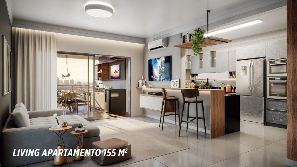 Living Apartamento 155m2_Colina do Ipê