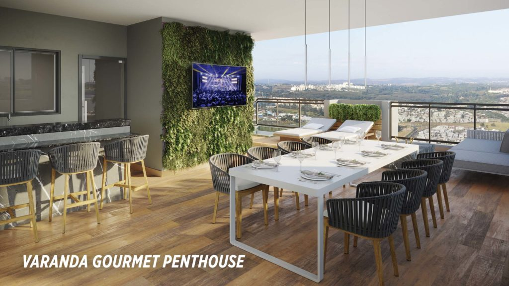Varanda Gourmet Penthouse_Colina do Ipê
