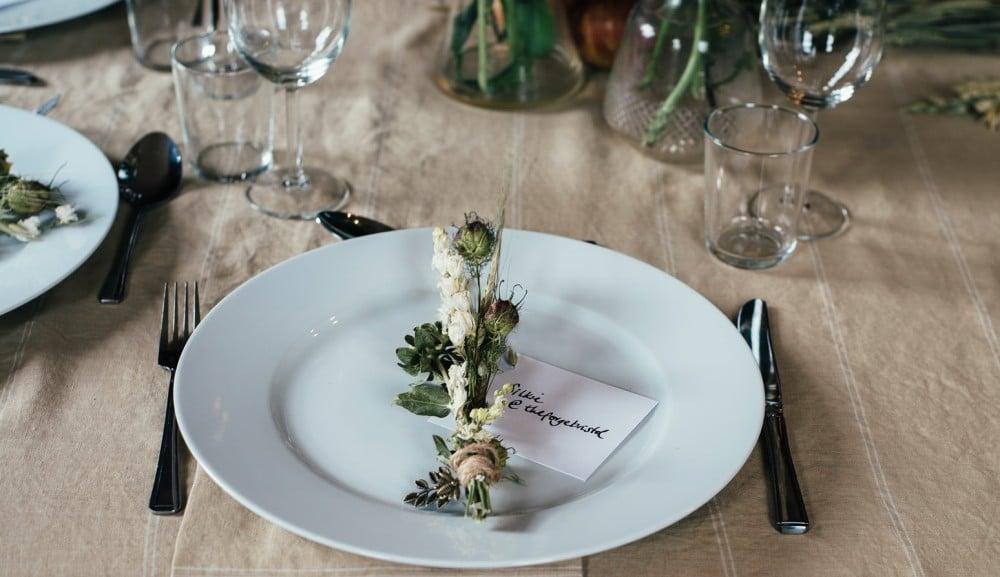 Decoração de mesa de jantar